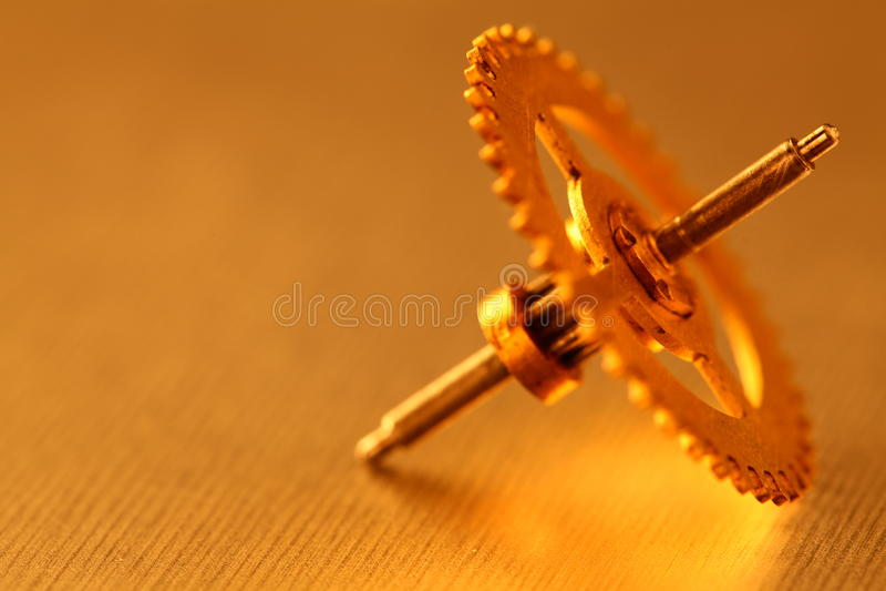 oczyszczony przekładni złota metall zdjęcie stock
