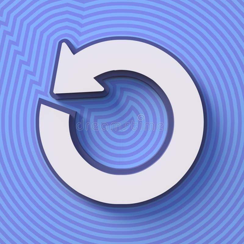 Odświeża symbol, guzik z cieniem znak kolorowy świadczenia 3 d royalty ilustracja