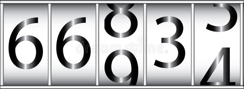 Odómetro stock de ilustración