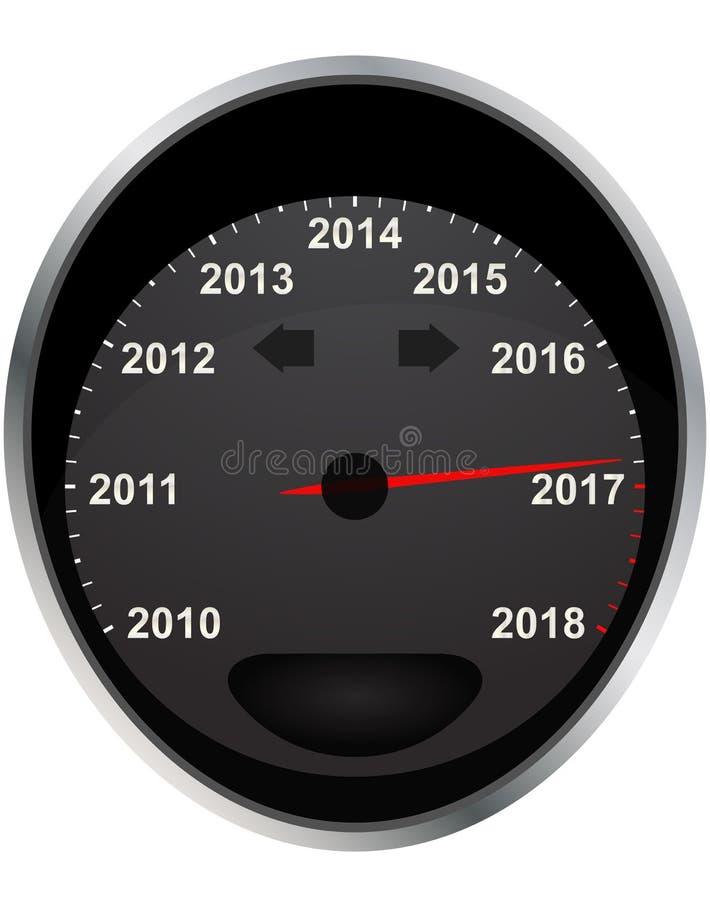 odómetro de 2017 años ilustración del vector