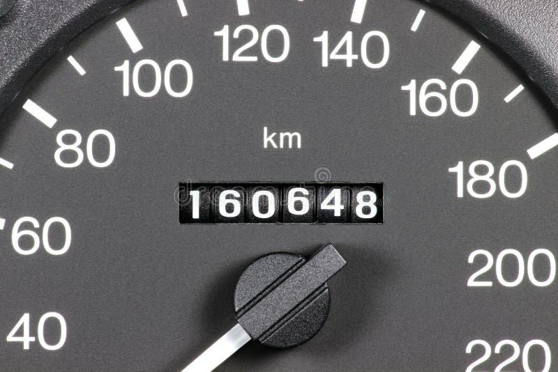 Odómetro del coche usado fotos de archivo libres de regalías