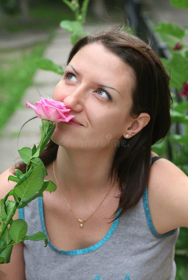 odór różana kobieta zdjęcie stock
