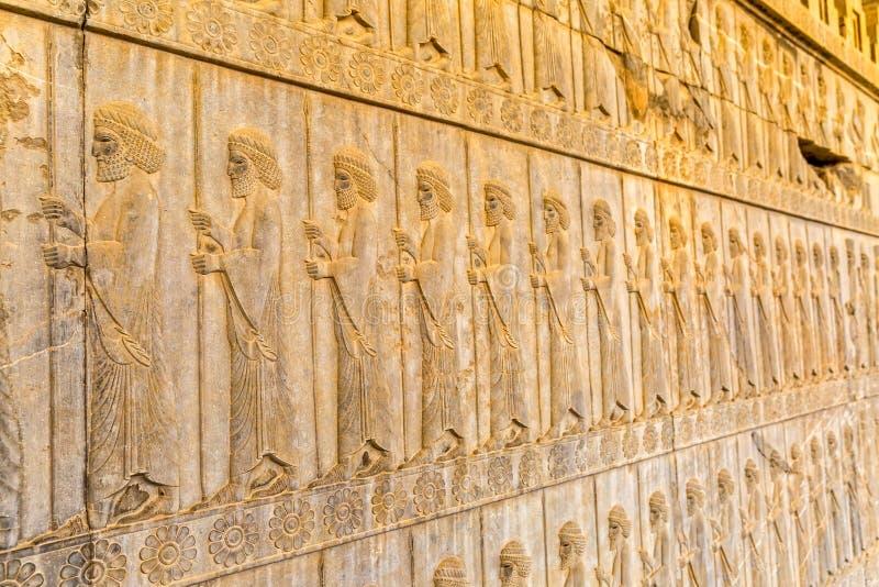 Odödliglättnadsdetalj Persepolis royaltyfria foton
