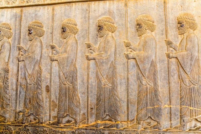 Odödliglättnadsdetalj Persepolis arkivfoton