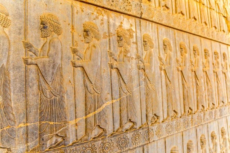 Odödliglättnadsdetalj Persepolis arkivbild