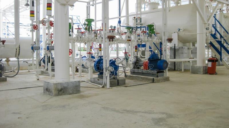 Odśrodkowe pompy który pompowa benzyna Pompowa rafineria obrazy royalty free