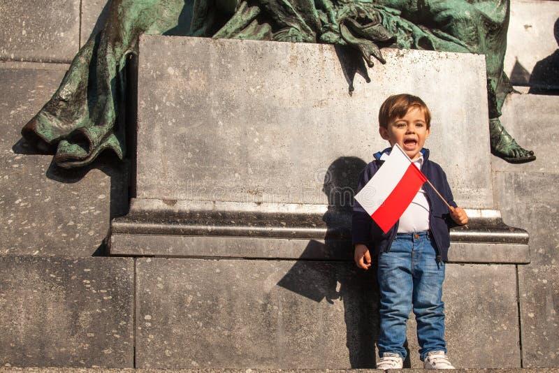 Odświętność Krajowy dzień niepodległości republika Polska - jest święto państwowe, przesławny każdy rok od 1918 rok obraz stock