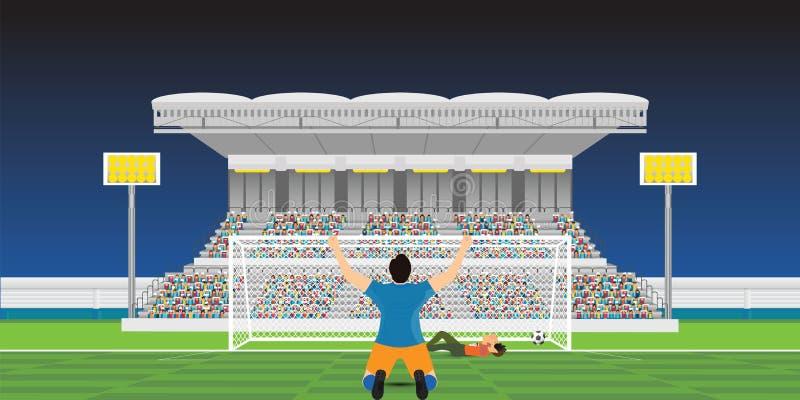 odświętności bramkowa gracza piłka nożna royalty ilustracja