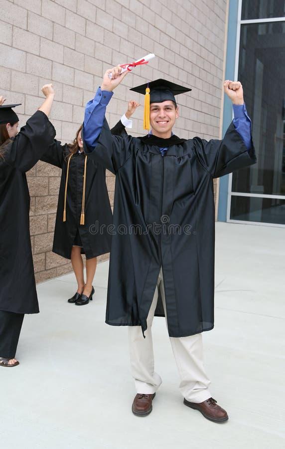 odświętności człowiek ukończenia szkoły zdjęcie stock