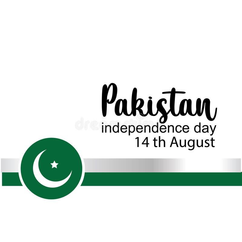 Odświętności Pakistan dnia niepodległości kreatywnie wektorowa ilustracja 14th Sierpniowa Pakistan niezależność wektor ilustracji