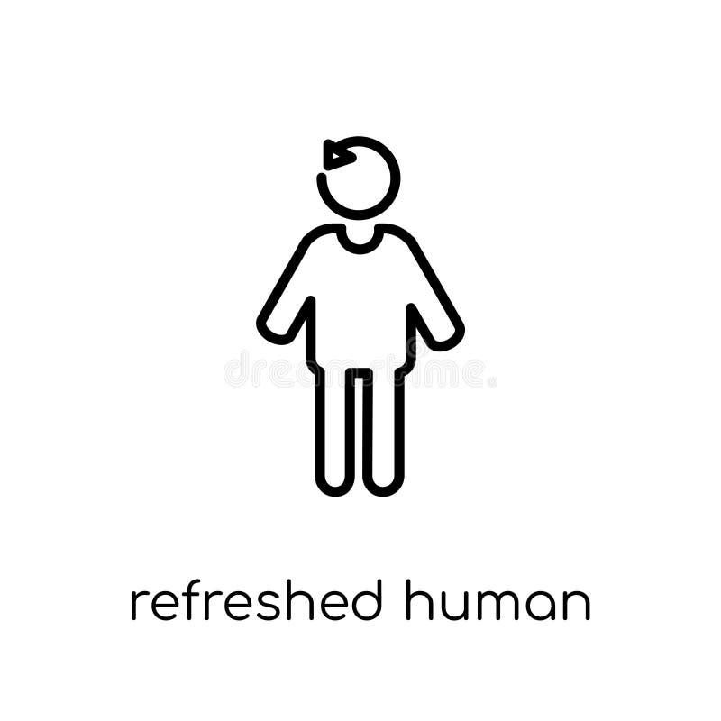 odświeżająca ludzka ikona Modny nowożytny płaski liniowy wektor odświeżający ilustracji