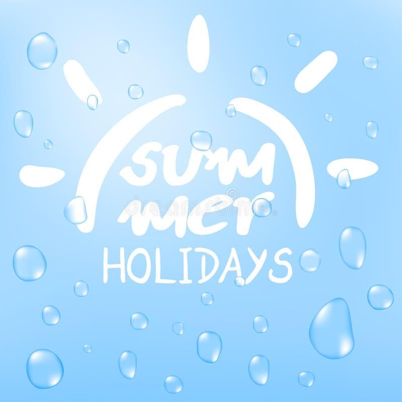 Odświeżający lato symbol ilustracji