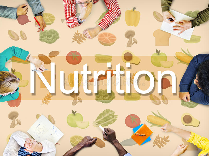 Odżywianie Karmowej diety życia Zdrowy pojęcie obraz stock