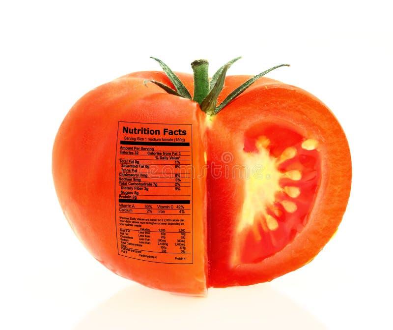 Odżywianie pomidorowi fact obrazy stock