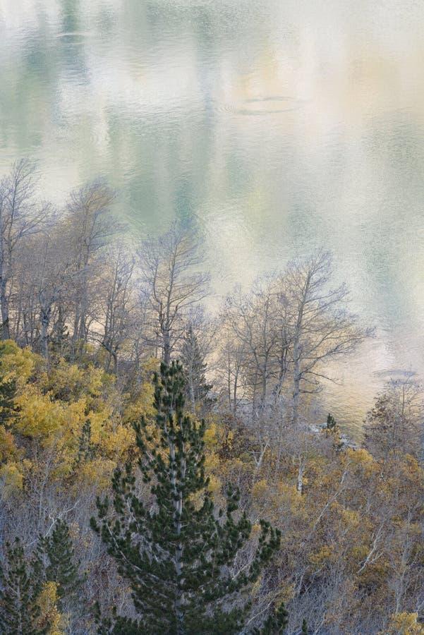 Od śladu nad jezioro Sabrina przy świtem, sierra Nevada pasmo, Kalifornia 2 obraz royalty free