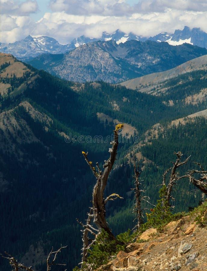 Od żelazo szczytu, Alpejski jeziora pustkowie, Kaskadowy pasmo obrazy stock