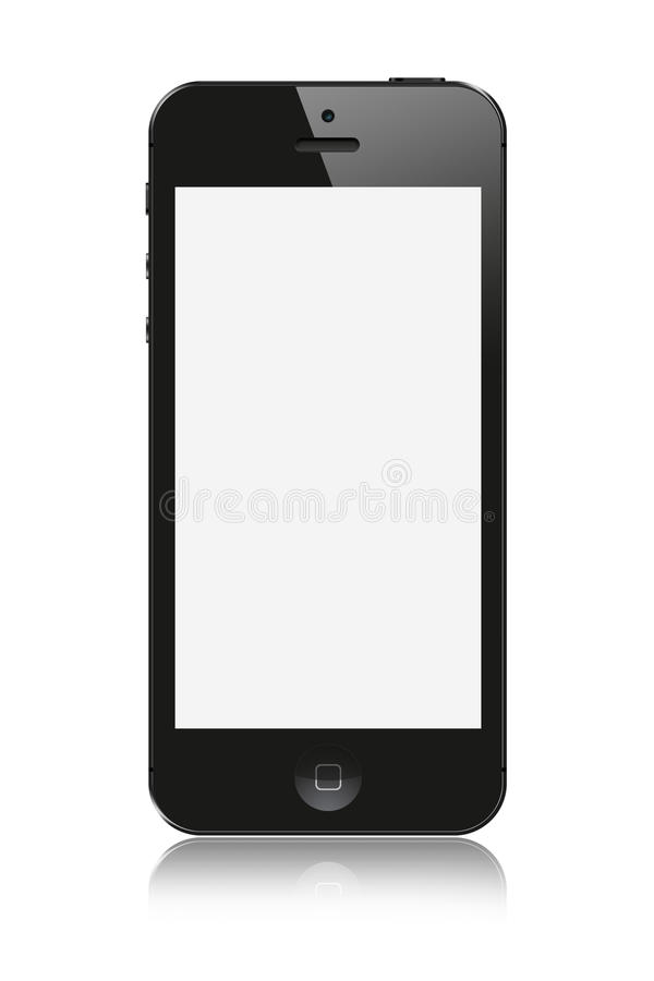 Od Apple nowy iPhone 5 royalty ilustracja
