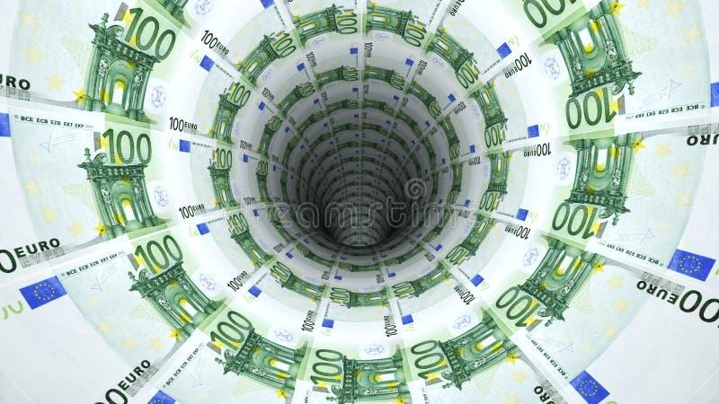 Od euro pieniądze tło royalty ilustracja