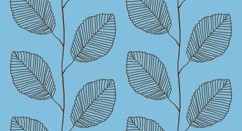 Od liść bezszwowy wzór royalty ilustracja