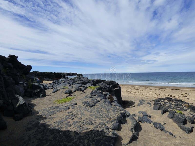 Od plaży niebo obraz stock
