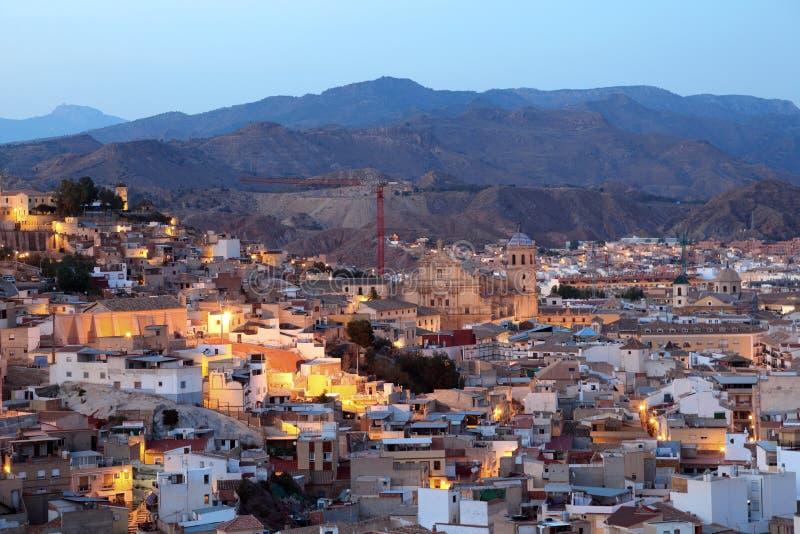 Od stad van Lorca Provincie van Murcia, Spanje stock fotografie
