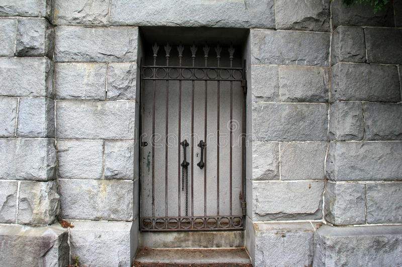 Download Od Stone Crypt With Locked Doors Behind Cast Iron Gate Stock Photo - Image of & Od Stone Crypt With Locked Doors Behind Cast Iron Gate Stock Photo ...