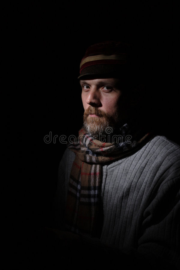 Od time dressed man royalty free stock photography