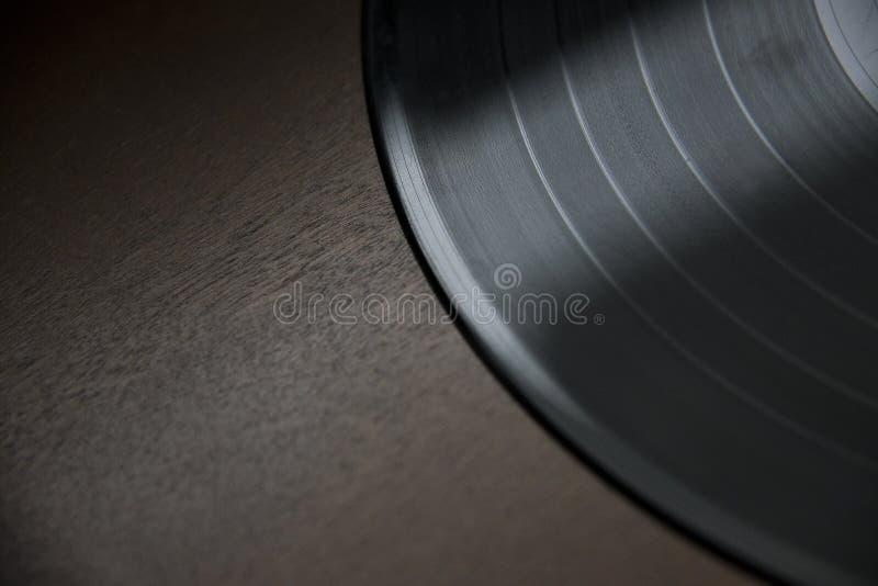 Od-Vinylaufzeichnung auf Holzoberfläche stockfotos