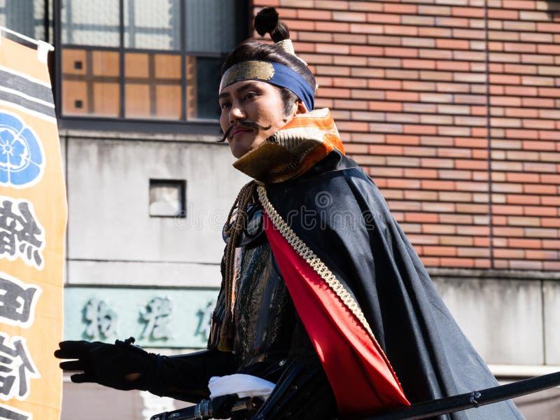 Oda Nobunaga sur un cheval photo libre de droits