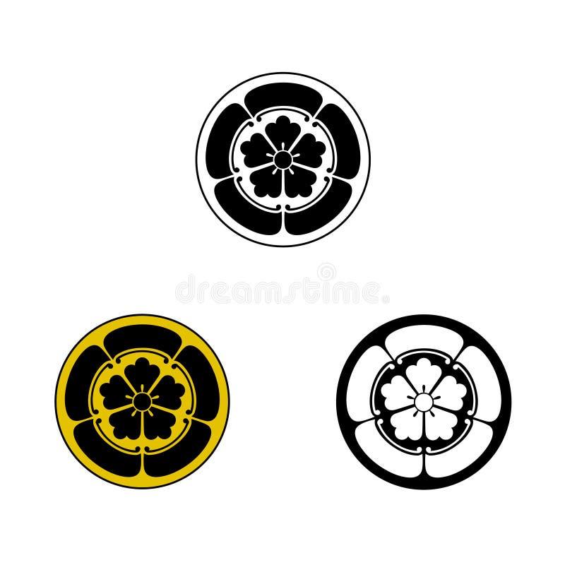 Oda Samurai Crest imagem de stock
