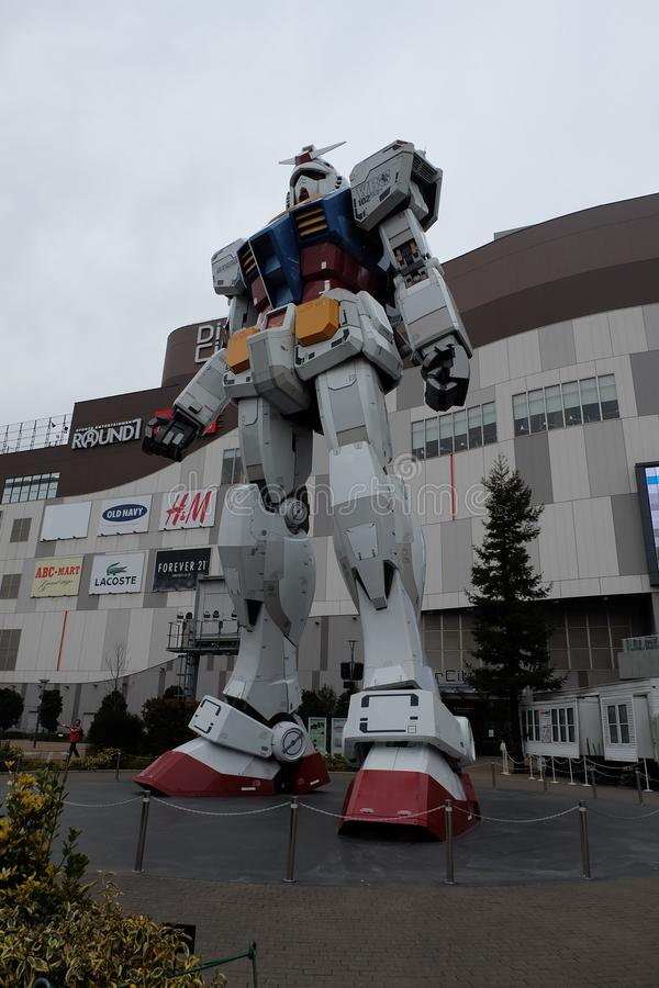 Odaiba Gundam RX-78-2 RG1/1 zdjęcia royalty free