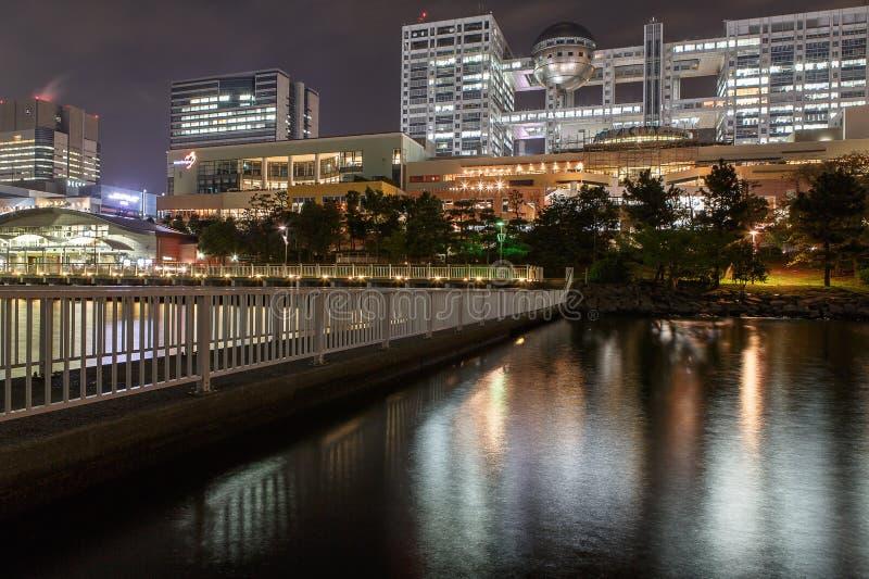 Odaiba at night royalty free stock photo
