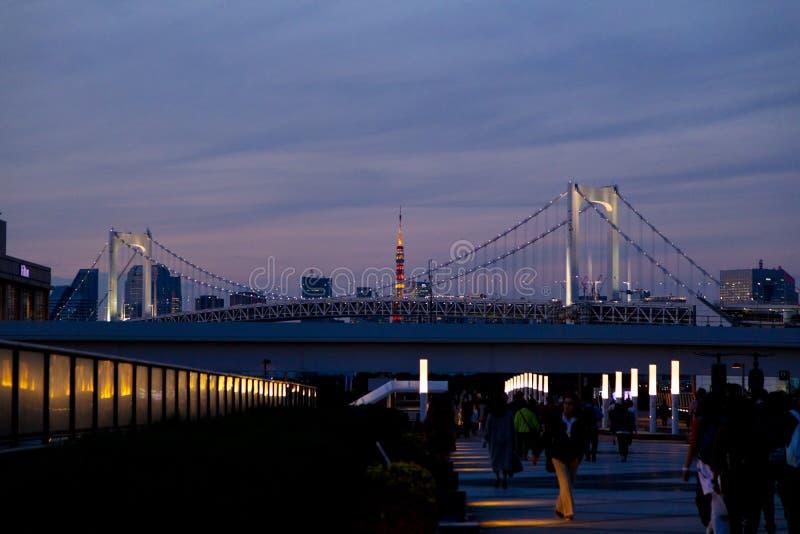 Odaiba ,Tokyo, Japan - Nov 17 2018 - View of tokyo skytree and r royalty free stock image