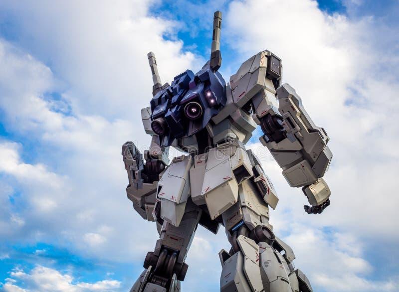 ODAIBA,TOKYO,JAPAN - Sep 2018 : The real size model of Gundam robot in Odaiba City stock photos