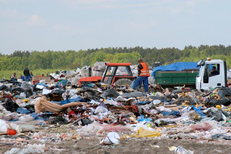 odbiór garbages dumpingu mill śmieci fotografia stock