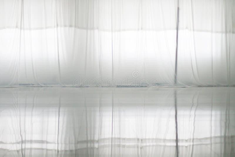 Odbicie biała zasłona zdjęcia stock