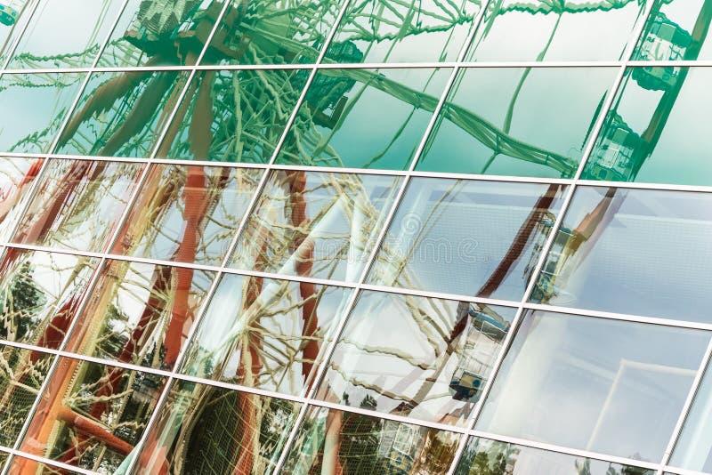 Odbicie Ferris koło, abstrakcjonistyczny tło zdjęcia royalty free