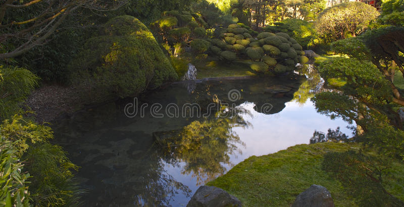 Odbicie Japońscy Herbaciani ogródy zdjęcie royalty free