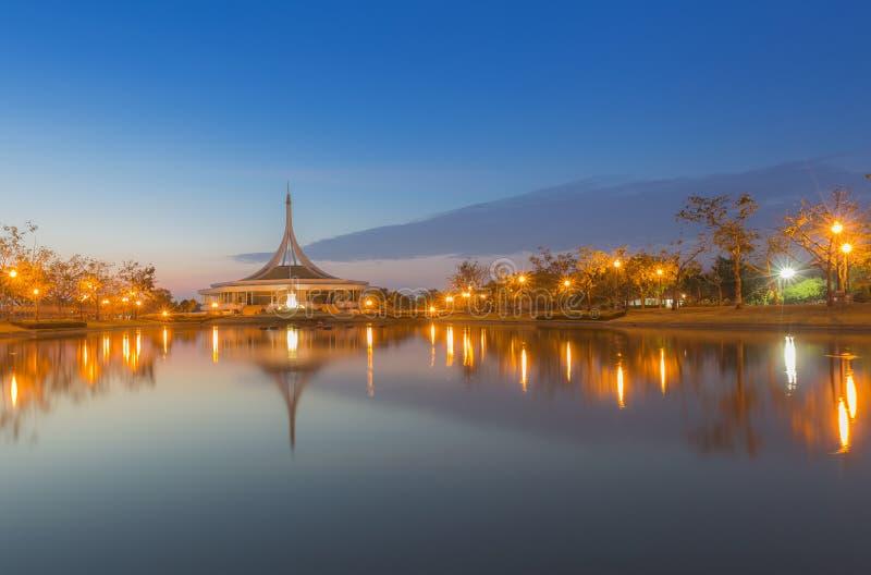 Odbicie Rama9 Pomnikowy jawny park zdjęcia stock
