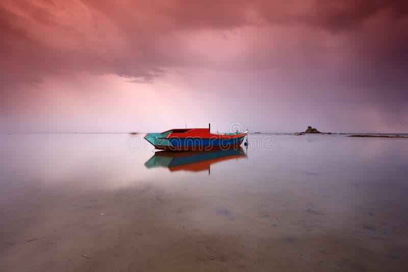 Odbicie RGB łódź zdjęcia royalty free