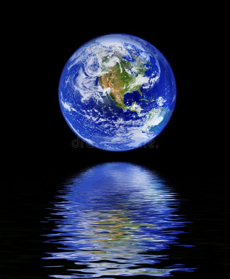odbicie wody całego świata royalty ilustracja