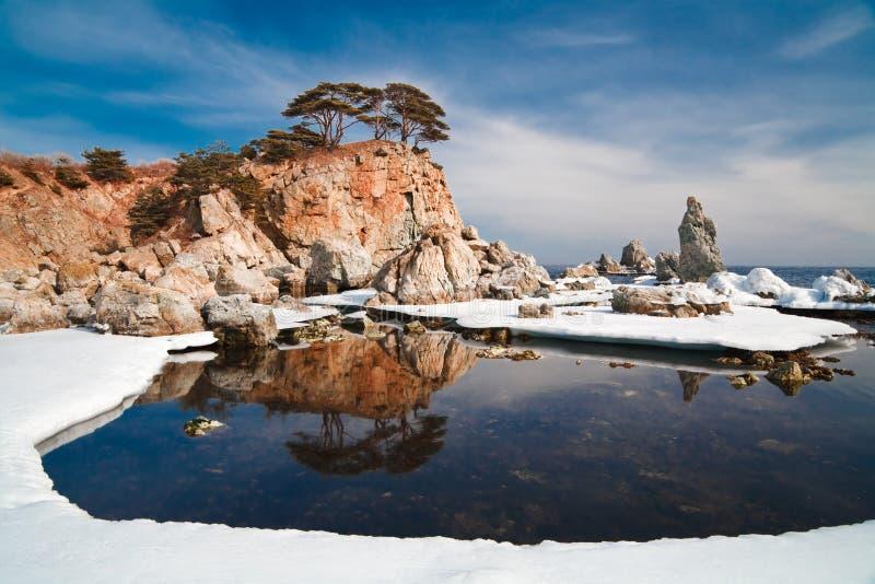 Odbijająca wyspa zdjęcie royalty free