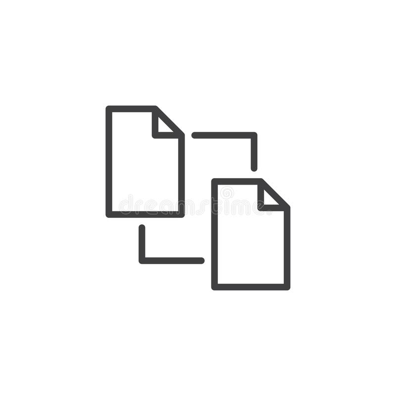 Odbitkowa kartoteka dokumentu linii ikona ilustracji
