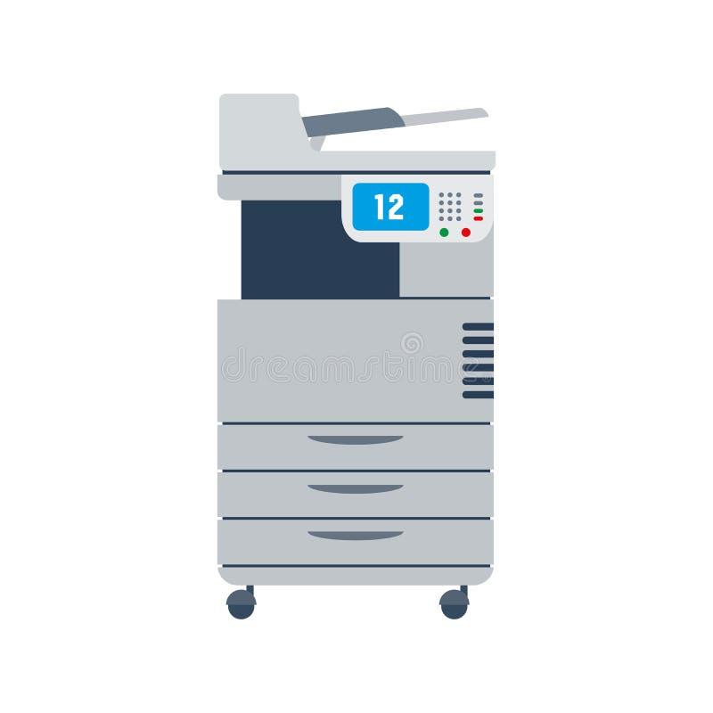 Odbitkowa maszyna lub photocopier royalty ilustracja
