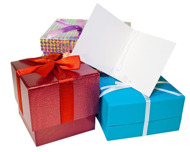 odbitkowa prezenta prezentów przestrzeni etykietka fotografia royalty free