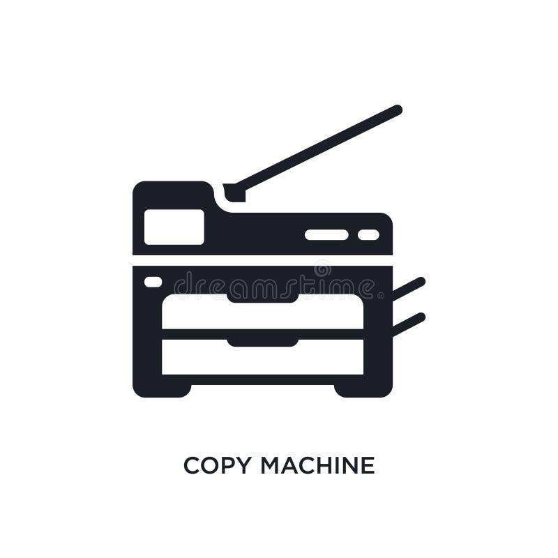 odbitkowej maszyny odosobniona ikona prosta element ilustracja od urządzenia elektronicznego pojęcia ikon odbitkowy maszynowy edi ilustracji