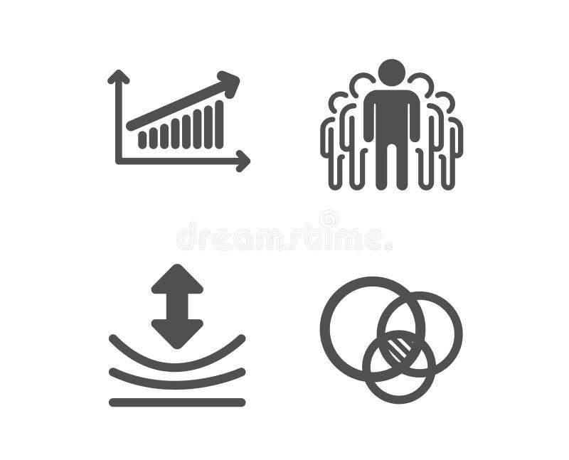 Odbojno??, mapa i Grupowe ikony, Euler diagrama znak Elastyczny, prezentacji mapa, kierownicy wektor ilustracji