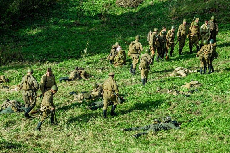Odbudowa bitwa 1941 wojna światowa 2 w Kaluga regionie Rosja zdjęcie royalty free