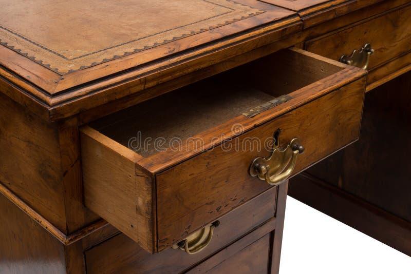Odchylony kreślarz Antykwarski Drewniany biuro stół fotografia royalty free