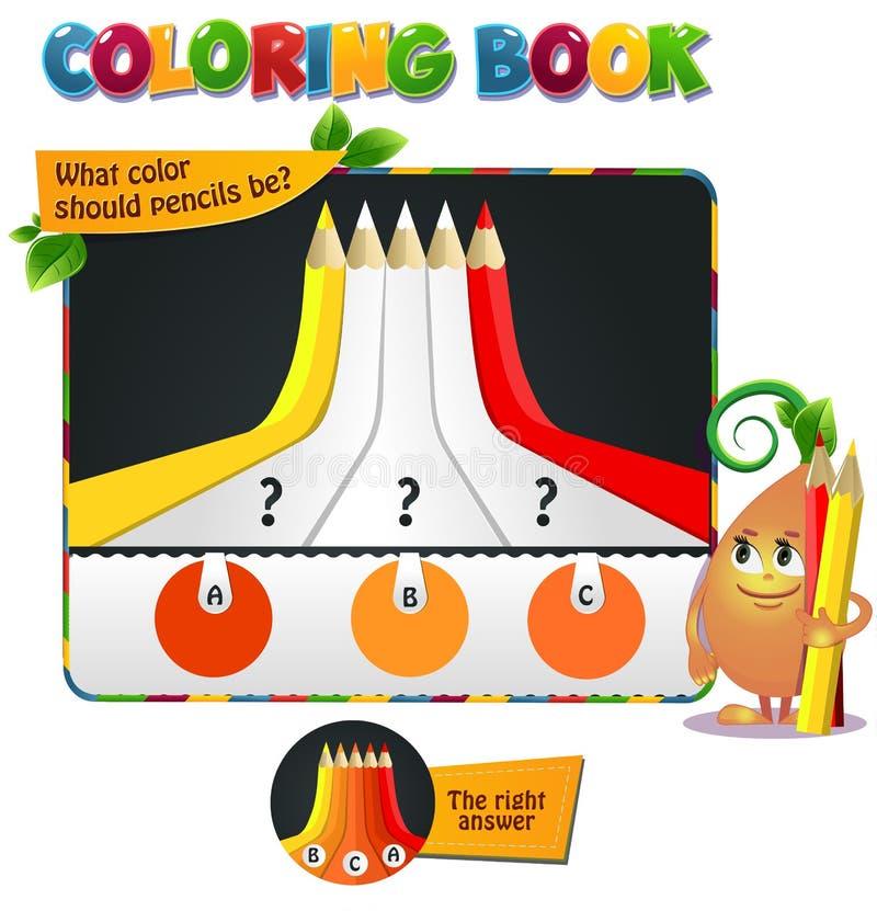 Odcień definici kolor żółty ilustracja wektor